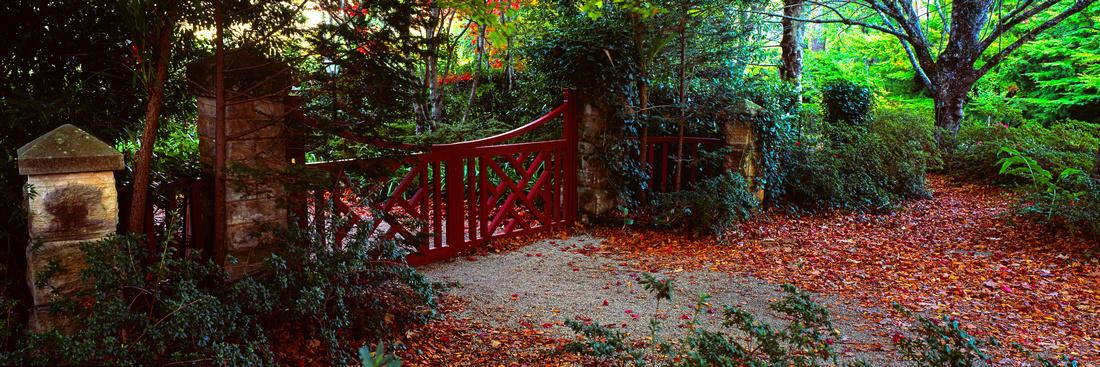 The hidden red gate