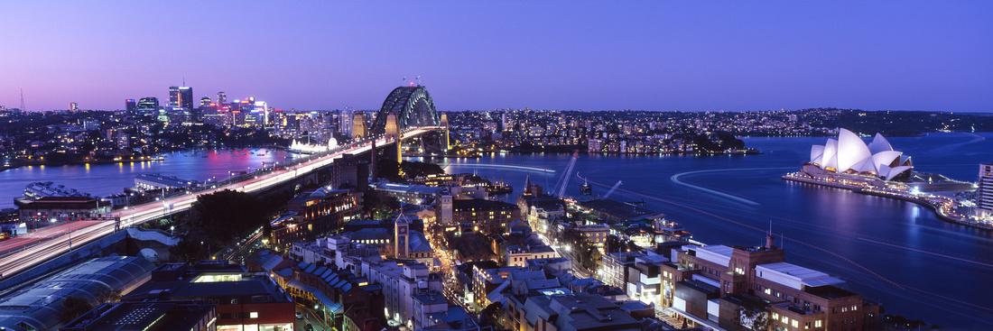 Twilight on Sydney Harbour