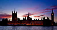 British Houses of Parliament at twilight