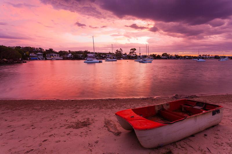 Pink sky at night sailors delight!