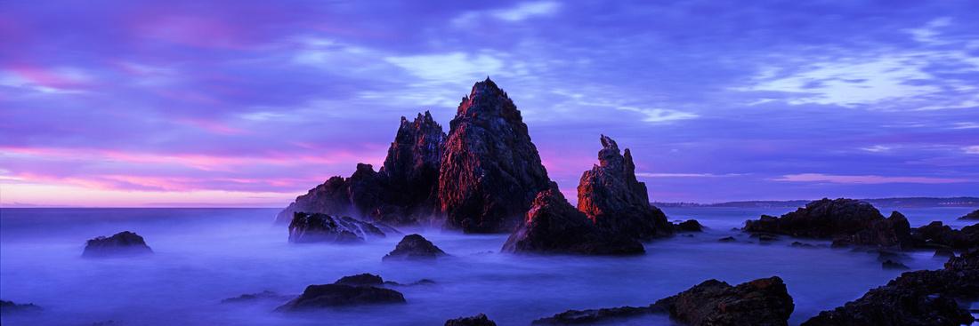 Light on Camel Rock