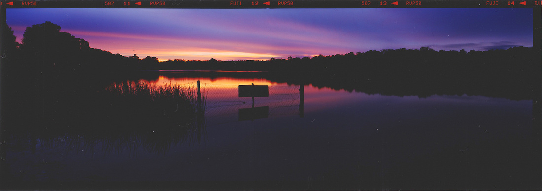 Dodgy scan of Storm King Dam sunrise